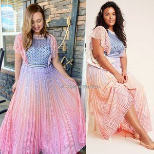 NWT ANTHROPOLOGIE Geisha Designs Savita Maxi Dress